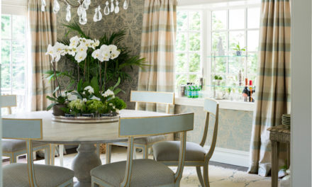 A Classic, yet Current Dining Room