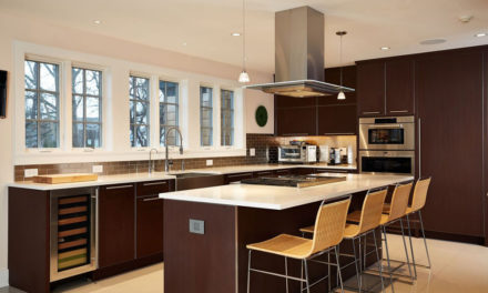 A Kitchen Winks at the Past in a Contemporary, Crisp Way