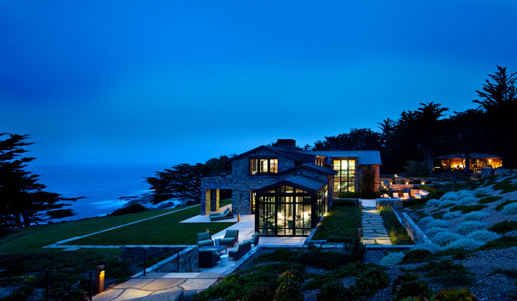 A Stone House that Blends English Country and Modern Coastal California
